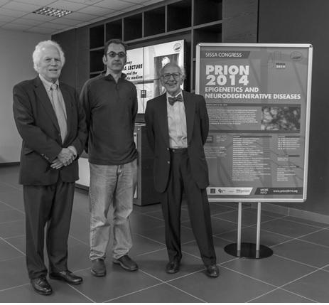 prof. Eric R. Kandel, prof. Giuseppe Legname, prof. Stanley B. Prusiner